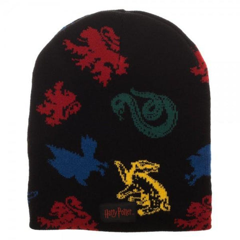 Harry Potter Hogwarts House Mascots Magic Jacquard Beanie