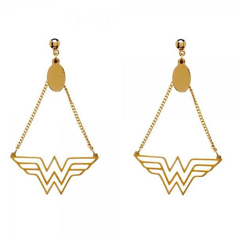DC Comics Wonder Woman Logo Dangle Earrings