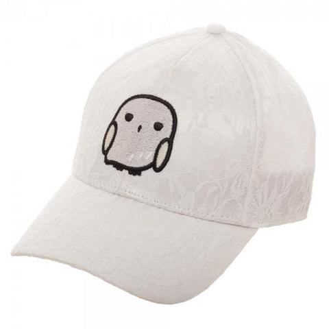 Harry Potter White Lace with Embroidered Hedwig Owl Adjustable Hat