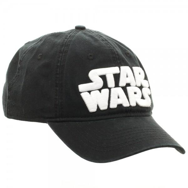 Star Wars Embroidered Logo Cotton Twill Black Adjustable Hat