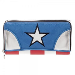 Marvel Comics Captain America Marvel Zip Around Wallet