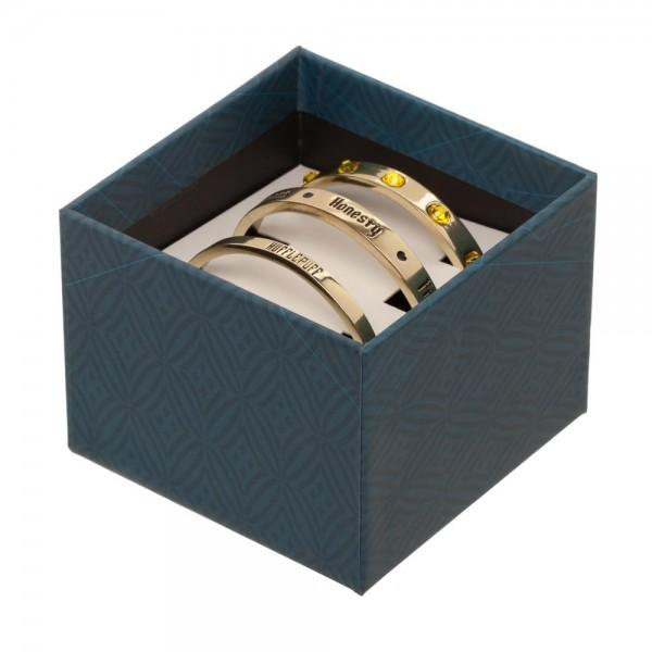 Harry Potter Hufflepuff 3 Cuff Bracelet Set in a Harry Potter Gift Box