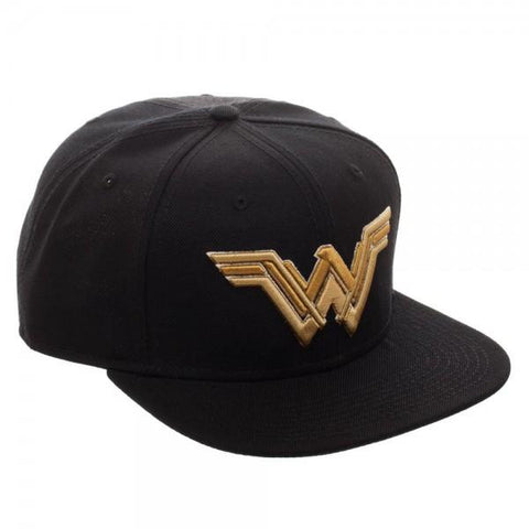 DC Comics Wonder Woman Embroidered Icon Black Adjustable Hat