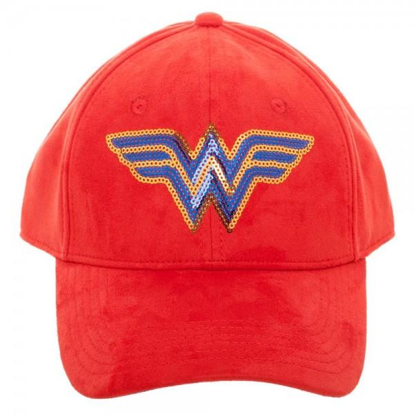 DC Comics Wonder Woman Sequin Suede Adjustable Hat