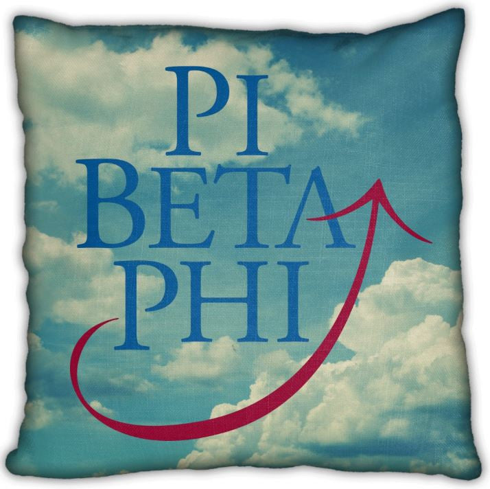 "Phi Beta Phi 16"" Logo on Clouds Invisible Zip Pillow"
