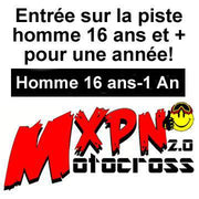 1 Pass, Motocross Male 16 years and over - MXPN Motocross