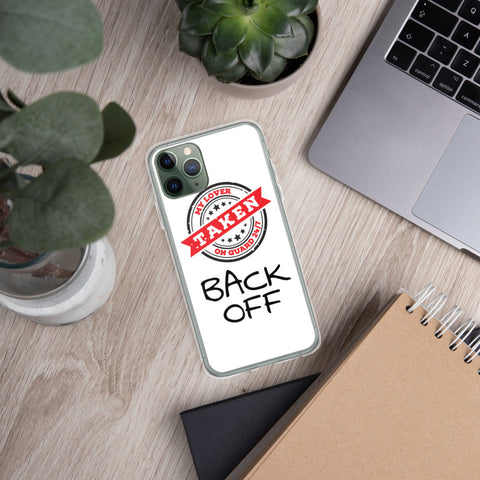 iPhone Case UNISEX - Taken Back Off (White)
