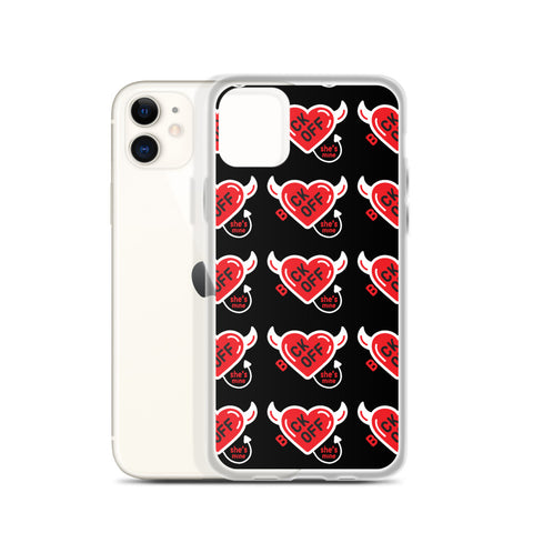 iPhone Case FOR HER - Back Off She's Mine (Black)