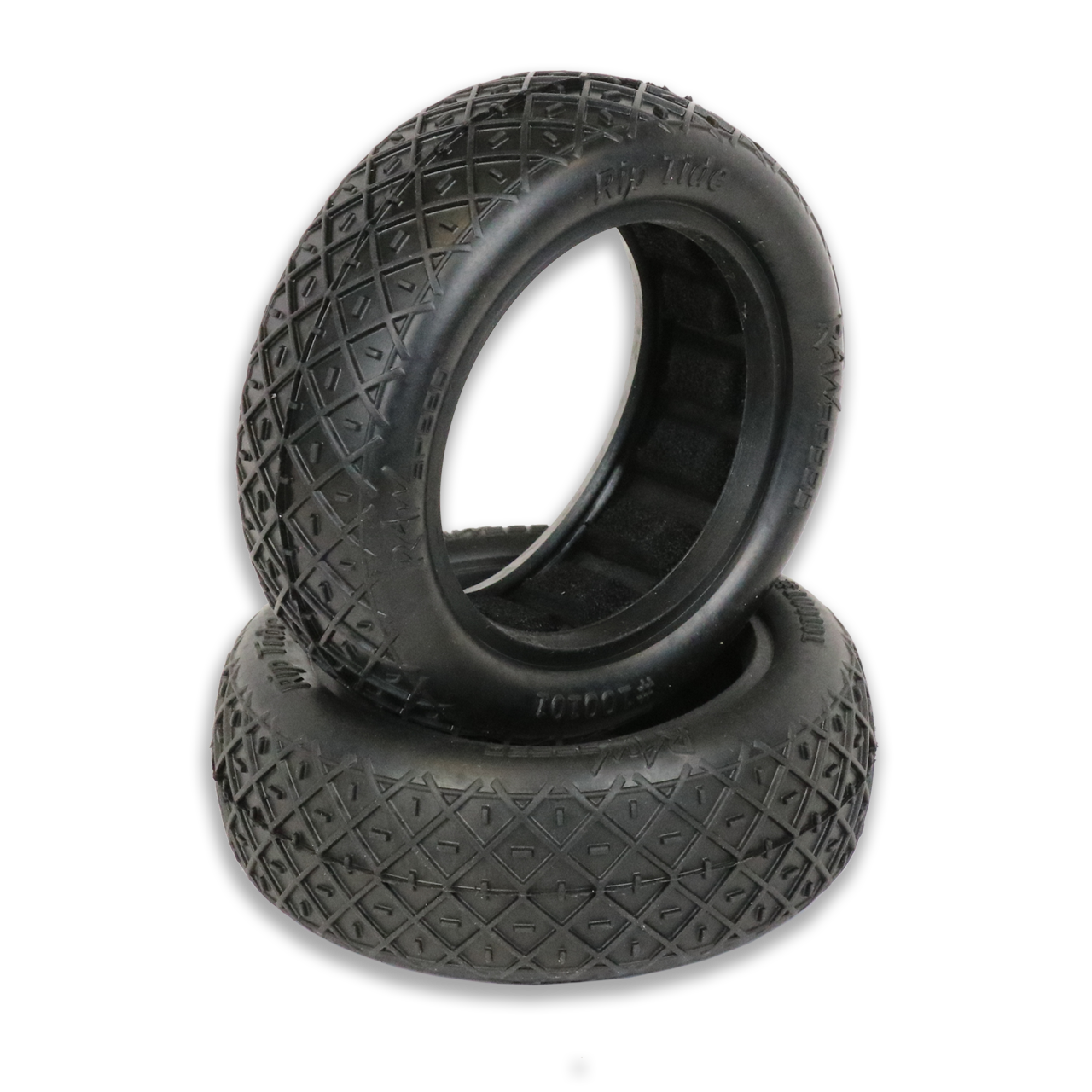 "Raw Speed Rip Tide 2WD Front Buggy Tyres  w/Inserts 2.2"" (1 pr)"