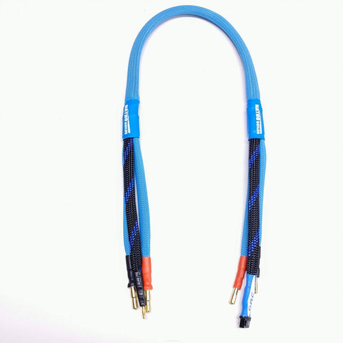 2020 Leveled Up Balance Charge Lead for 2s lipo 4/5mm bullet (Blue With Twist)