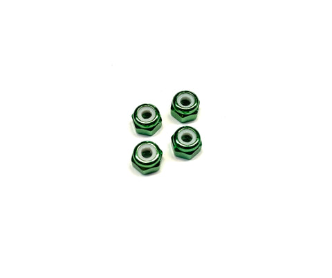 Lightweight Aluminium M3 Lock Nut - No Flange (4)