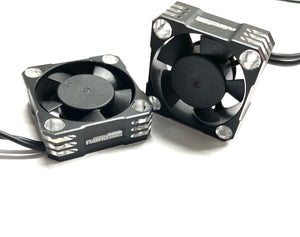NATHOBUILDS 30x30x10mm Aluminum Cooling Fan (Silver/Black)