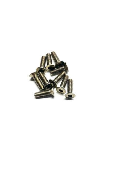STAINLESS STEEL SCREWS FLAT HEAD 10PC