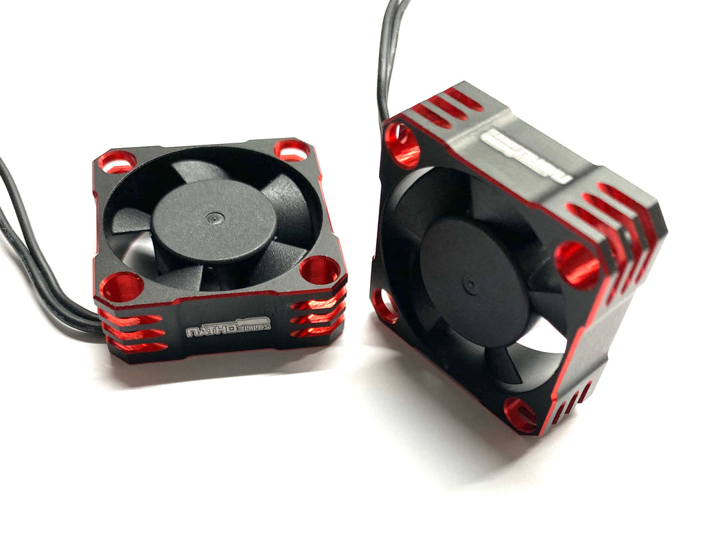 NATHOBUILDS 30x30x10mm Aluminum Cooling Fan (Red/Black)
