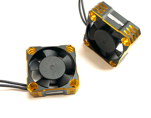 NATHOBUILDS 30x30x10mm Aluminum Cooling Fan (Gold/Black)