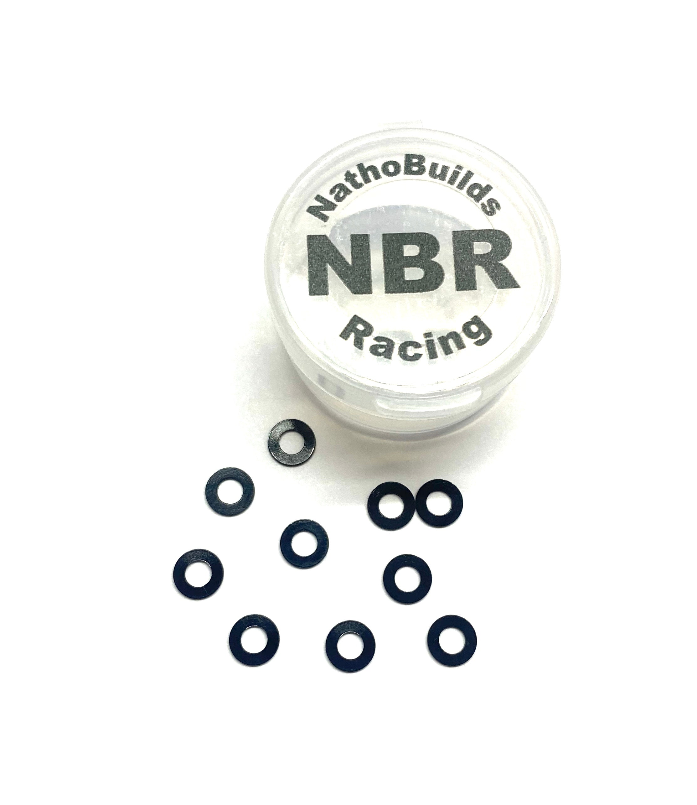 NathoBuilds- M3 Ball Stud Washers 0.5mm 10pcs Black