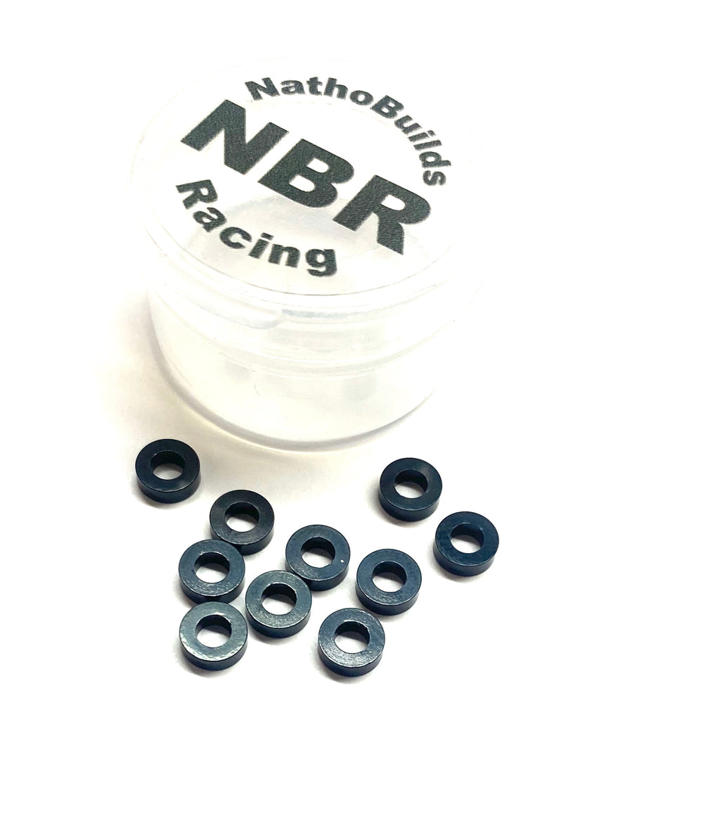 NathoBuilds- M3 Ball Stud Washers 2mm 10pcs Black