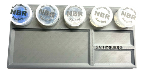 NathoBuilds Parts Tray with Snap Lock Case Compartments - NBR Medium