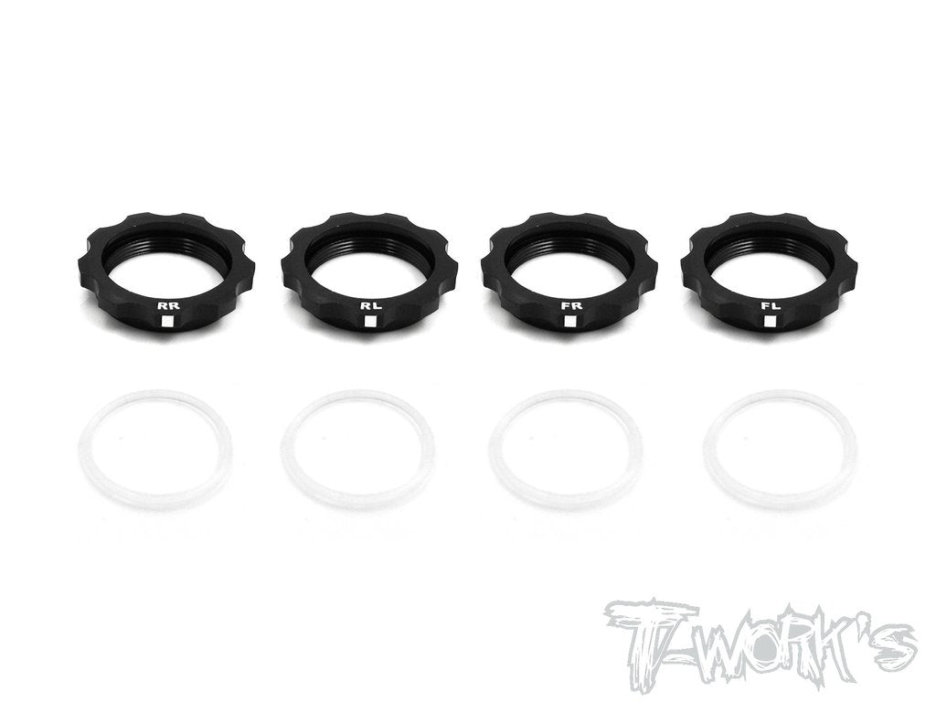 T-Works Alum. Shock Adjustable Nut With Mark ( For Team Associated RC10 B6/ B6D/ B64/ B64D/B6.1/T6.1