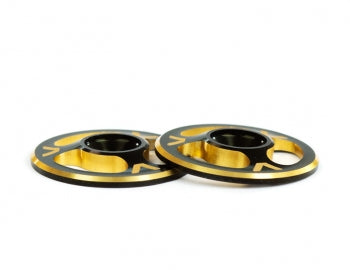 Avid RC Triad Wing Buttons | Dual Black / Gold
