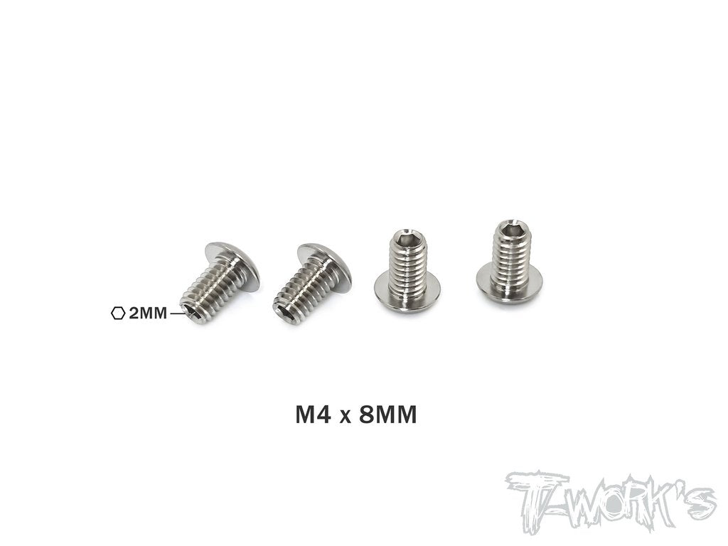 T-Works Titanium Down Stop Screws 4pcs (M4x8mm)
