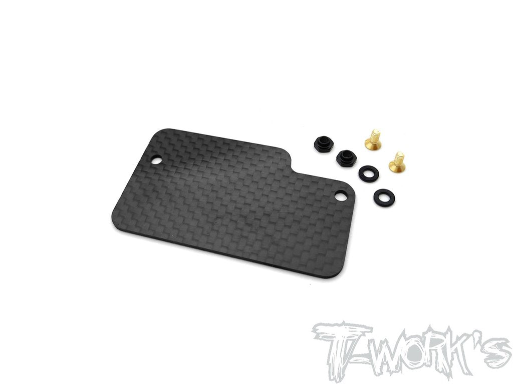 T-Works TLR Graphite Electronics Mounting Plate ( For TLR 22X-4/TLR 22 Ver.3 )
