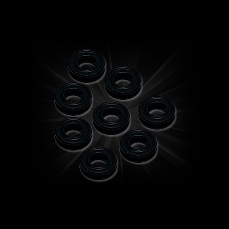 Stickykicks RC Five Star Black Silicone Shock X-Rings