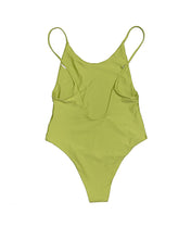 Load image into Gallery viewer, Lime One-Piece Swimsuit