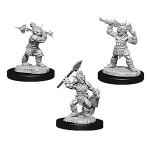 D&D Nolzur's Marvelous Miniatures Goblins and Goblins Boss (Ikke malet) (3 stk)