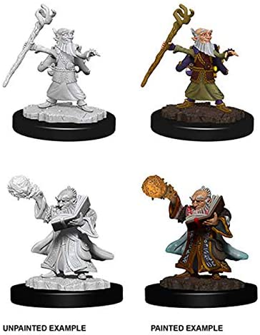 D&D Nolzur's Marvelous Miniatures  - Male Gnome Wizard  (Ikke malet) (2 stk)