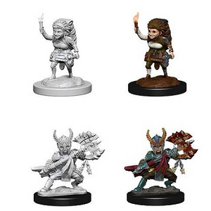D&D Nolzur's Marvelous Miniatures  - Halfling Fighter (Female)  (Ikke malet) (2 stk)