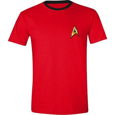 T-shirt STAR TREK - SCOTTY UNIFORM- Rød