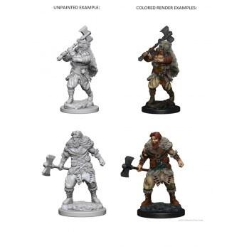 D&D Nolzur's Marvelous Unpainted Miniatures: Human Male Barbarian ( 2 stk)