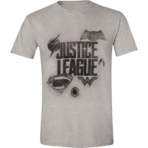 T-Shirt Justice League Logo grå