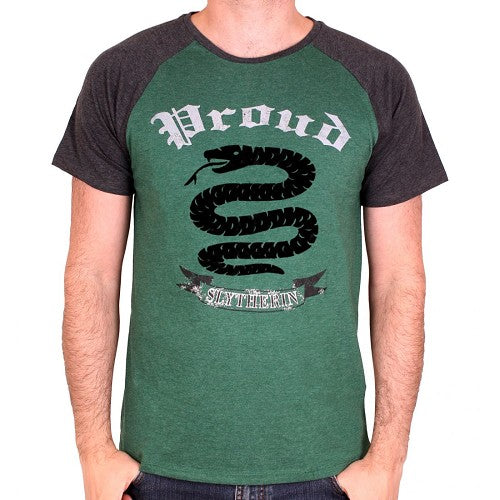 T-Shirt Harry Potter Proud Slytherin - Grøn