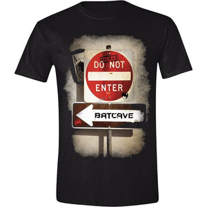 T-Shirt Batman - Batcave Graffiti - sort