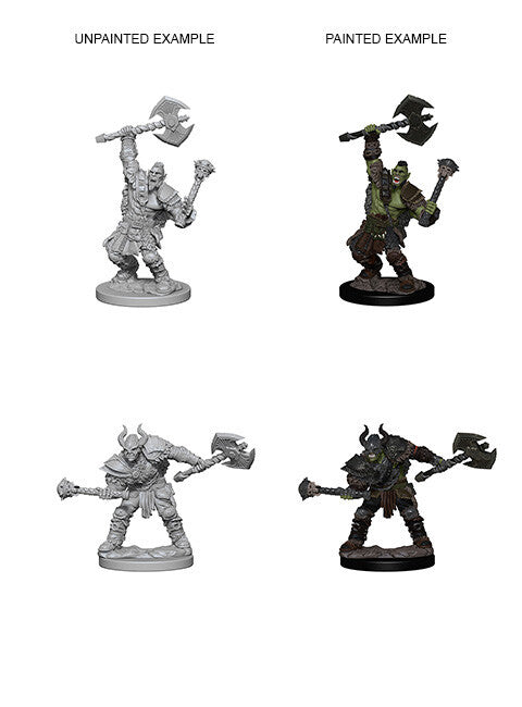 Pathfinder Battles: Unpainted Miniatures - Half-Orc Male Barbarian