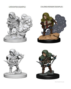 D&D Nolzur's Marvelous Miniatures  - Halfling Rogue  (Ikke malet) (2 stk)