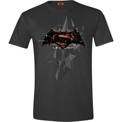 T-Shirt Batman Vs Superman Cubic Logo