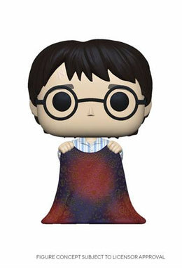 Harry Potter - POP! Movies Vinyl Figure Harry w/Invisibility Cloak 9 cm