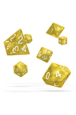 Oakie Doakie Dice RPG Set Marble - gul 7 stk