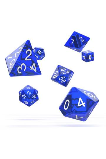Oakie Doakie Dice RPG Set Translucent - Blå 7 stk