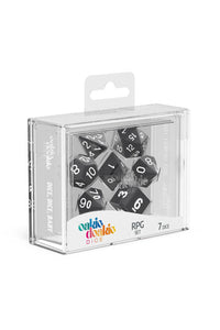 Oakie Doakie Dice RPG Set Solid - Sort 7 stk