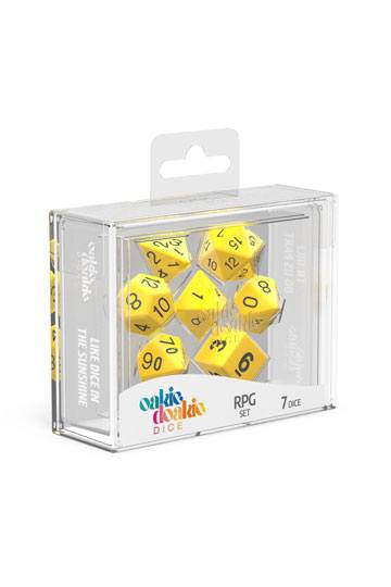 Oakie Doakie Dice RPG Set Solid - Gul 7 stk