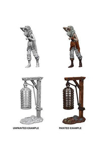 WizKids Deep Cuts Miniature Hanging Cage  (Ikke malet) 2 figur