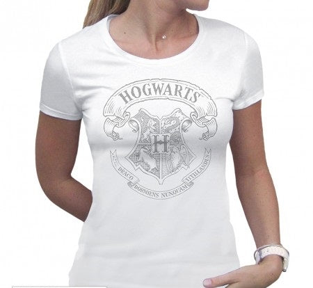 HARRY POTTER - Tshirt Hogwarts style - Hvid - woman