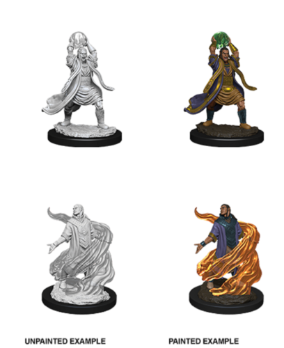 D&D Nolzur's Marvelous Unpainted Miniatures: Male Elf Sorcerer ( 2 stk)
