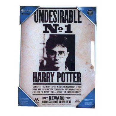 Harry Potter Glas Plakat - Undesirable No 1 30x40cm Inkl. ramme