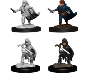 D&D Nolzur's Marvelous Miniatures  - Male Halfling rogue #2 (Ikke malet) (2 stk)