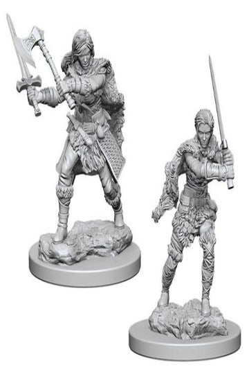D&D Nolzur's Marvelous Unpainted Miniatures: Human Female Barbarian ( 2 stk)